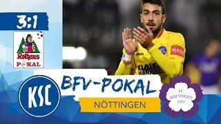 bfv-Rothaus-Pokal Viertelfinale FC Nöttingen vs KSC @WPTV