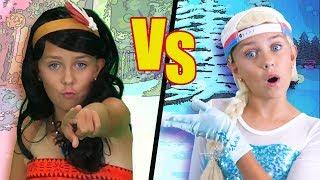 Princess Rap Battle | Elsa VS Moana | Funpop!