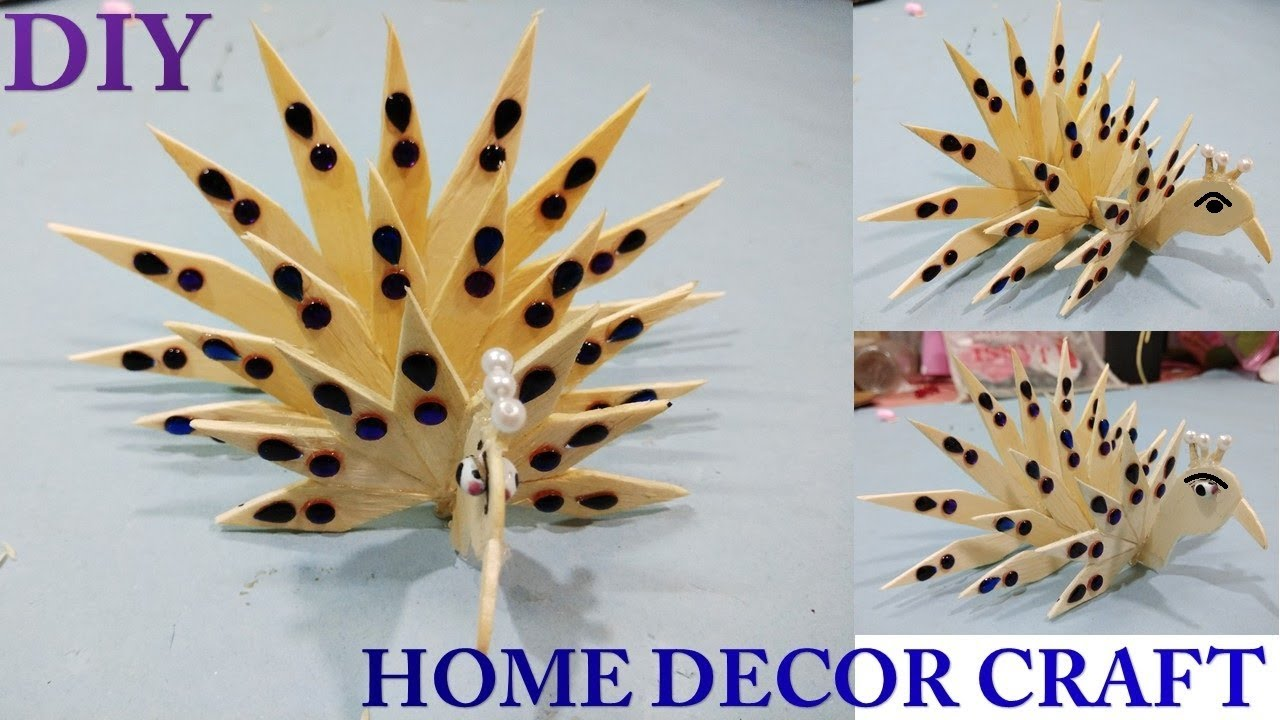 Ice Cream Stick Craft Popsicle Stick Diy Home Decor