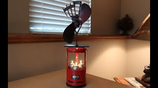 Truck Camping: Candle Heater w/ Fan (heat activated - no batteries)