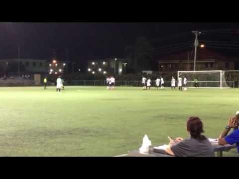 Andreas Ruiz free kick goal - Elite SC Cayman Islands