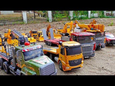 중장비 자동차 장난감 포크레인 덤프트럭 놀이 Car Toy Play With Excavator Dump Truck