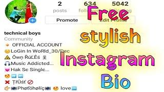how to set stylish Instagram bios, Instagram bio style me kaise likhe.