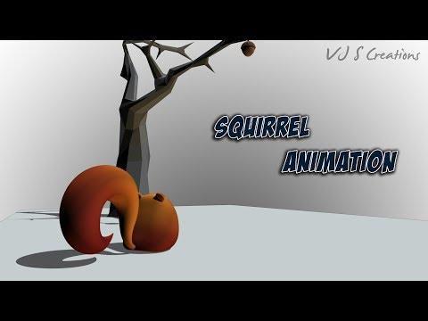 3D squirrel Animation
