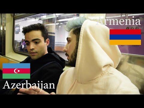 НЕЗНАКОМЕЦ В МЕТРО НЬЮ ЙОРКА ГОВОРИТ ПРО АЗЕРБАЙДЖАН И АРМЕНИЮ!