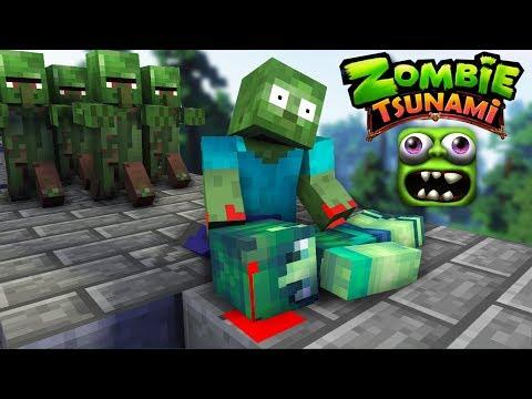 Monster School : ZOMBIE TSUNAMI CHALLENGE - PART 2 - Minecraft Animation thumbnail
