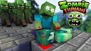 Monster School : ZOMBIE TSUNAMI CHALLENGE - PART 2 - Minecraft Animation
