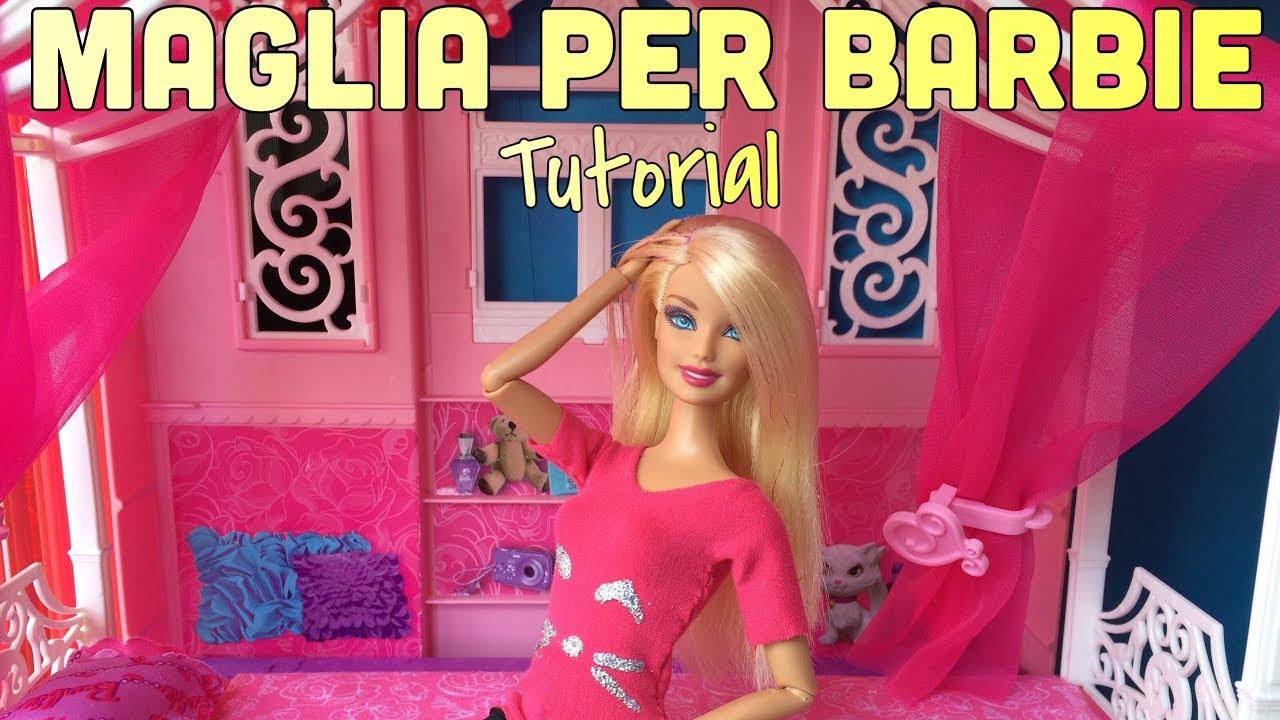Conosciuto Come Fare Una Maglia Alle Barbie - Tutorial - YouTube KL55