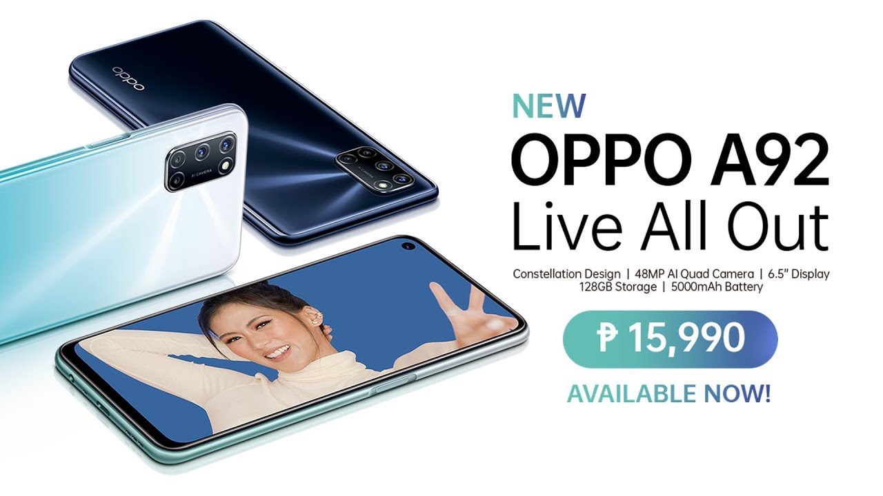 OPPO A92 - NOW AVAILABLE