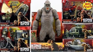 New King Kong Skull Island Toys Unboxed Complete Set Lanard Toys WD Toys