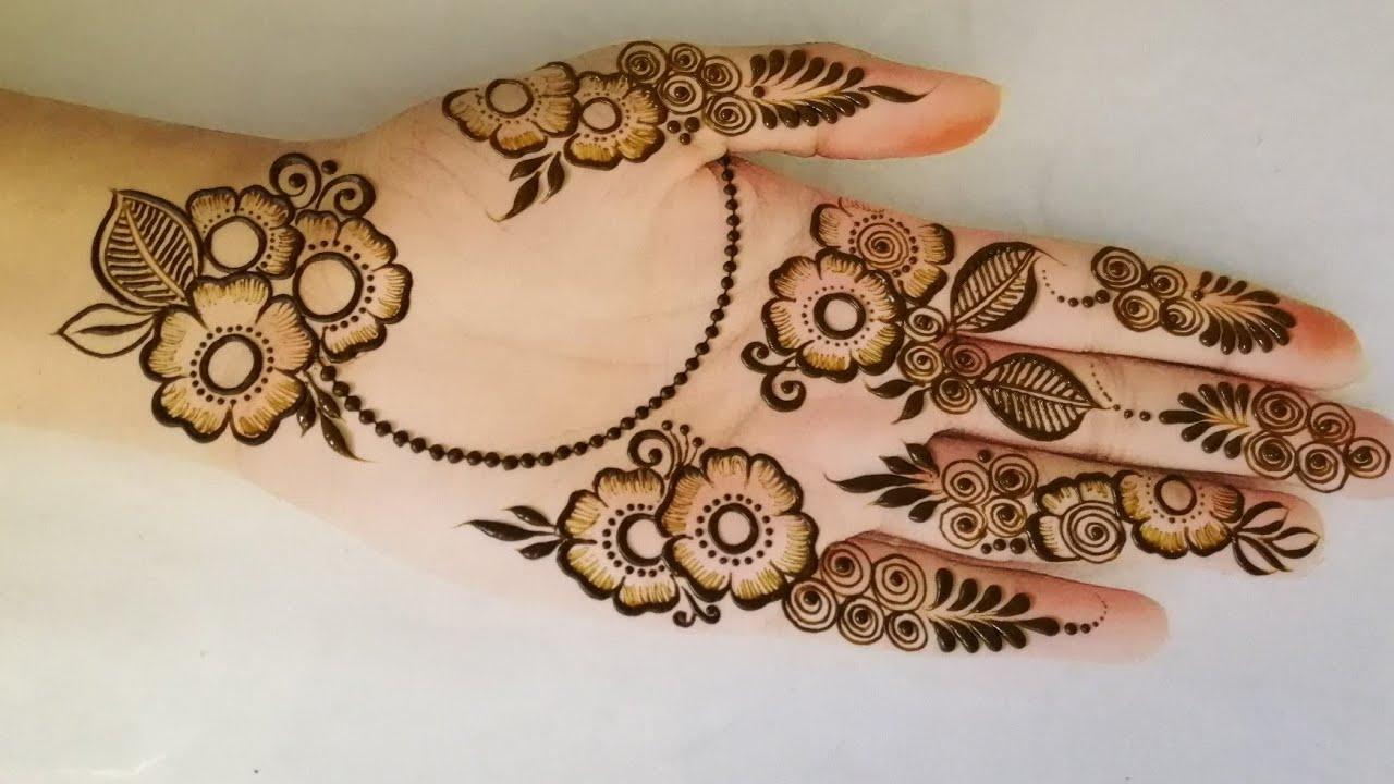 Very Easy simple basic mehndi design for beginners | Eid special full hand easy henna design.