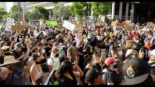 L.A. Peaceful Protests Justice for George Floyd Overview 2