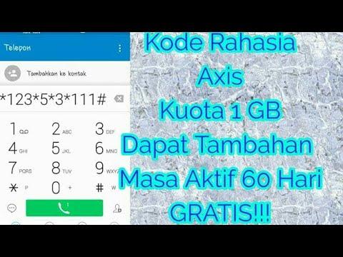 Kode Rahasia! GRATIS! Axis Kuota 1 GB dan Menambah Masa Aktif!!!