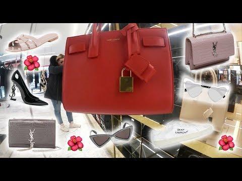 YSL Saint Laurent Luxury Shopping Vlog & Try On Baby Sac De Jour, Sunset Bag, Tribute Sandals + More