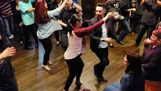 Salsa lessons at Stevens Steak House