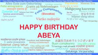 Abeya   Languages Idiomas - Happy Birthday