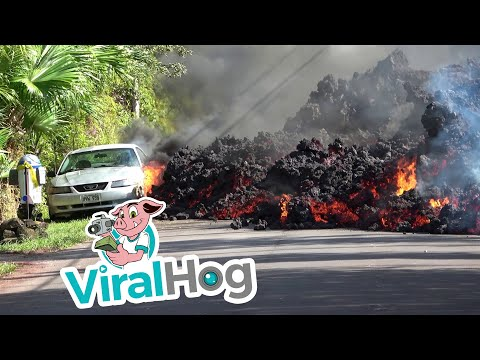 Lava Destroying Everything in Its Path || ViralHog