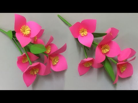 How to Make Beautiful Flower with Paper - Making Paper Flowers Step by Step - DIY Paper Flowers #13