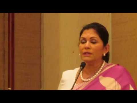 "Rosy Senanayake MP on ""Women and Political Participation"". SI Colombo 40th Anniversary. April 2013"
