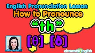 """th"" [θ] [ð] consonant sounds   English Pronunciation Lesson"