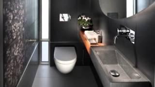 Дизайн интерьера ванной комнаты черного цвета