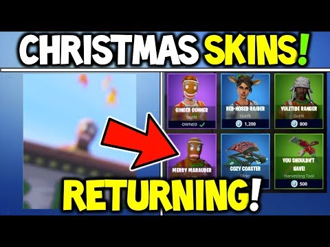 Fortnite *NEW* CHRISTMAS SKINS RETURNING SOON 100% CONFIRMED  Merry Marauder + Ginger Gunner