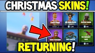 Fortnite 'NEW' CHRISTMAS SKINS RETURNING SOON (100% CONFIRMED) - Joyeux Maraudeur et Ginger Gunner