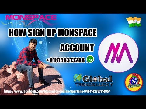 How to sign up Acccount  in Monsapce