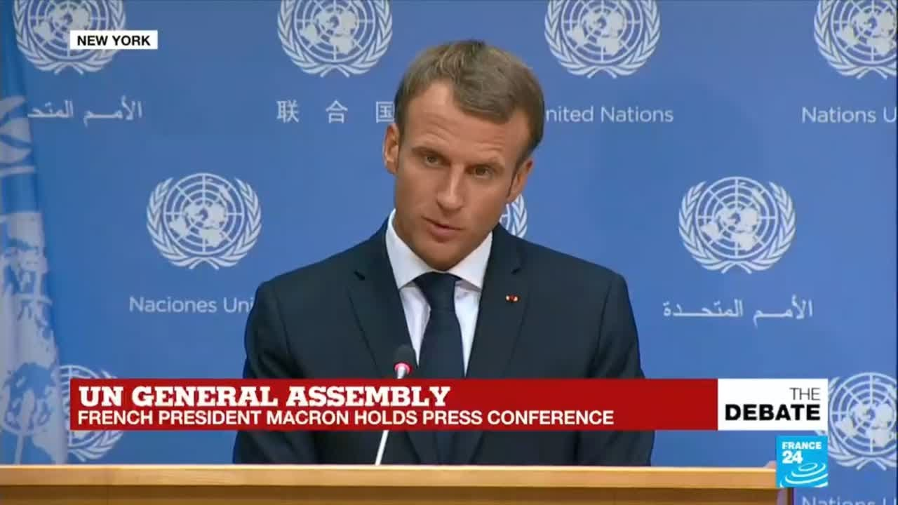 Un General Assembly French President Emmanuel Macron Holds Press Conference Youtube