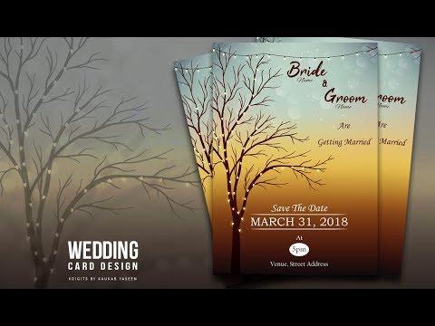 How to Design Wedding Invitation Card | Illustrator Tutorial