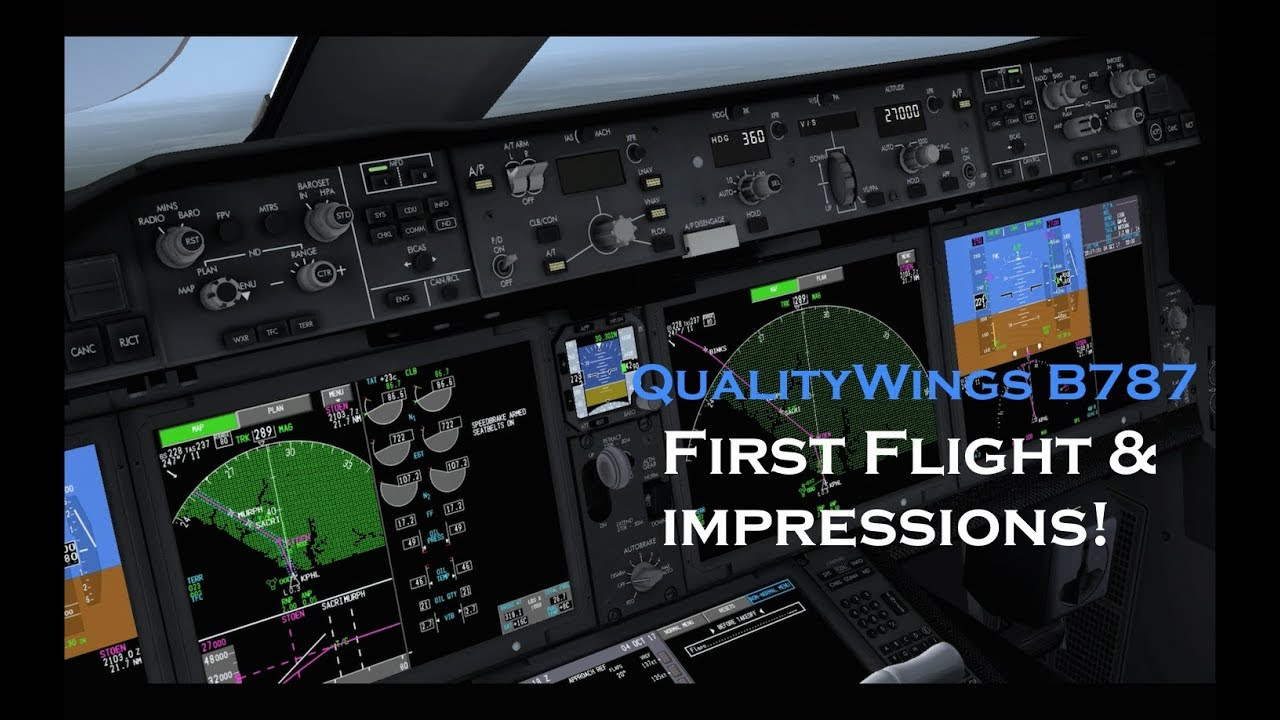 [FSX] QualityWings 787 | FIRST IMPRESSIONS | TAKEOFF from PHL!