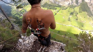 """Off The Hook""  Worlds Highest Suspension Base Jump ! Raw Footage"