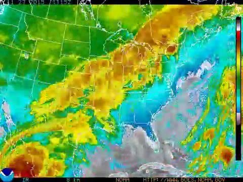 2015 Satellite Weather Goes East Infrared Youtube