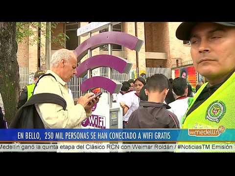 Bello tiene el mayor número de usuarios conectados a WiFi en Colombia [Noticias] - Telemedellín