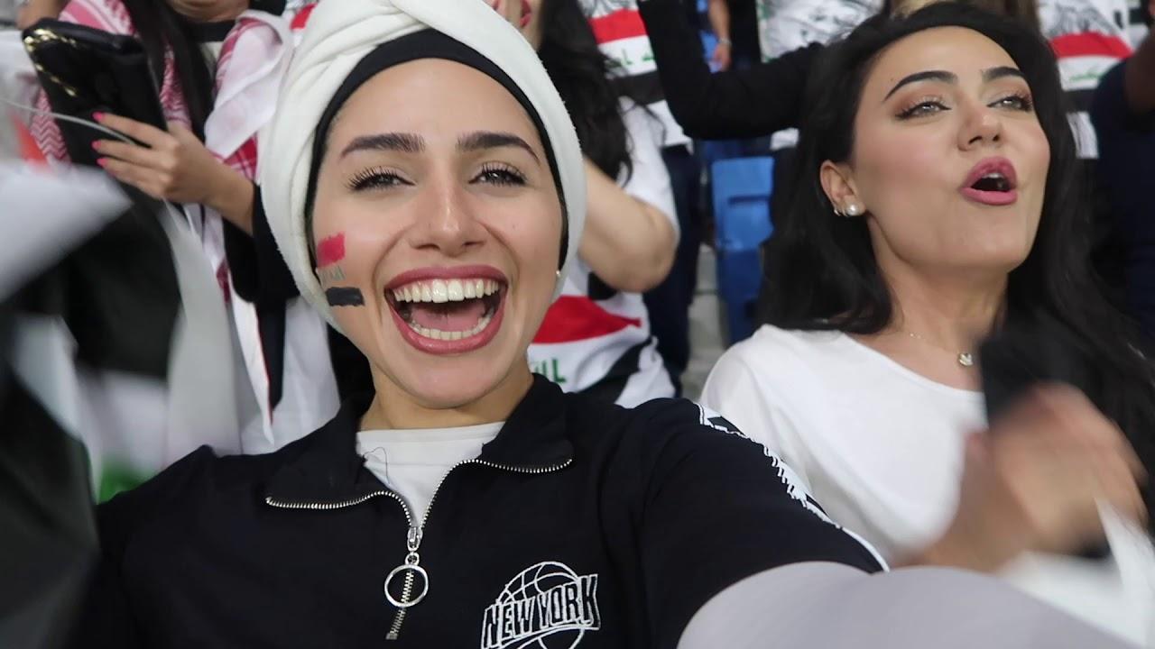رحنا نشجع المنتخب الوطني في كاس اسيا ... مباراة العراق و ايران