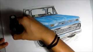 Drawing Chevrolet Pick Up.