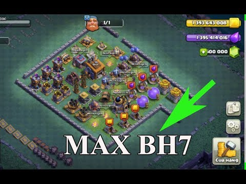 Clash of Clans: Gem To Max BH7 Giant Cannon - Update August 2017 | Thang COC