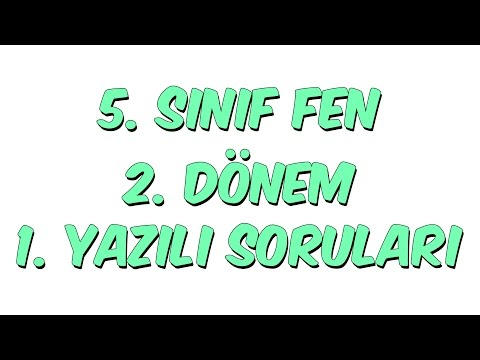 5.SINIF 2.DÖNEM 1.YAZILI | FEN...