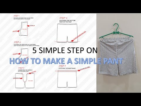 How To Make An Easy Pants Pattern And To Sew A Short Pants Step By