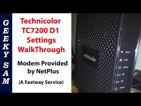 Technicolor TC7200 D1 Modem WalkThrough - Provided By