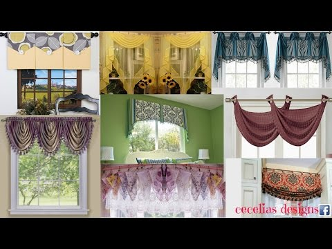 Curtain designs for homes interiors/valance