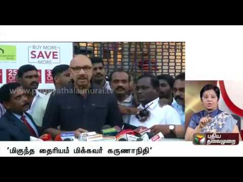 """ DMK leader Karunanidhi will return home soon "" : Actor Sathyaraj"