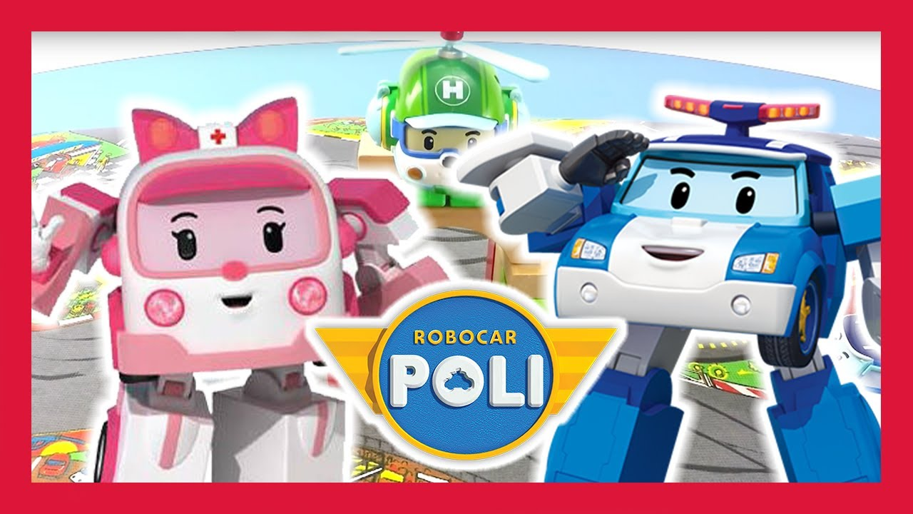 Toy Play Robocar Poli And Friends Build Tunnel On Toy