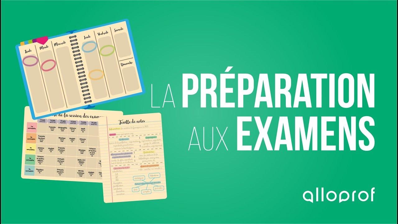 La Preparation Aux Examens Alloprof