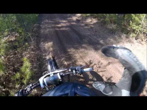 Dirtbiking Forest Island - Upper Peninsula Michigan