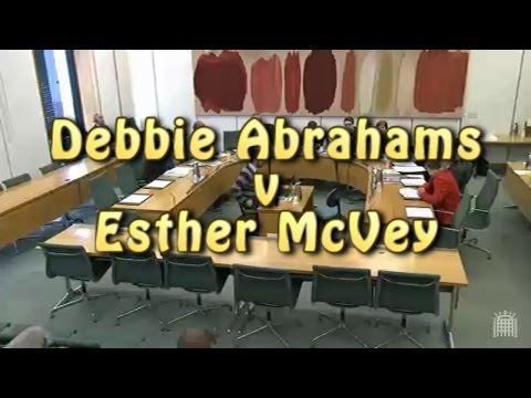 Debbie Abrahams v Esther McVey [subtitled]