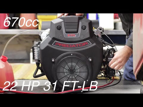 22HP V-Twin on a $25 Go Kart Unboxing and Intro