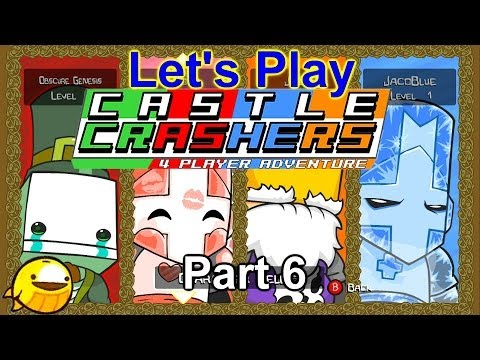 Let's Play Castle Crashers Co-Op Part 6 - Alien-ating Many