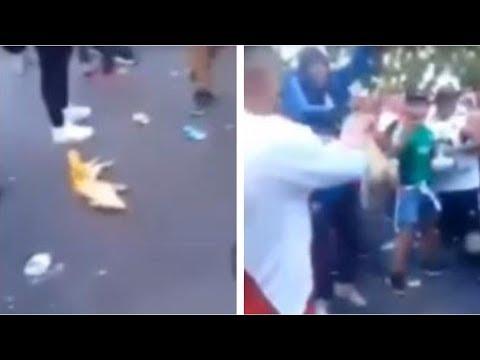 La barbarie continúa: aficionados de River patean un cerdo muerto pintado con los colores de Boca