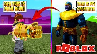 THANOS IN ROBLOX! *ROBLOX Avengers Infinity War!*